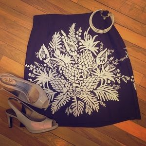 Dana Buchman Embroidered Skirt